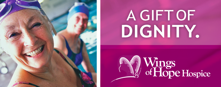 Photo Of Woman Smiling While Swimming At Hospice Holland, MI - Wings of Hope Hospice